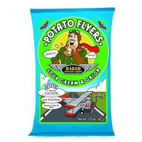 Pirate Brands Potato Flyers Sour Cream & Onion, 1.5-Ounce Bags (Pack of 24)