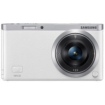 Samsung White EV-NXF1ZZB1HMX NX Compact System Digital Camera with 20.5 Megapixels (Body Only)