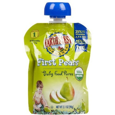 Earth's Best 1st Foods Purees - Pears - 3.1 oz - 6 pk