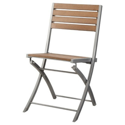 Outdoor Patio Furniture: Threshold Wood Folding Chair, Bryant