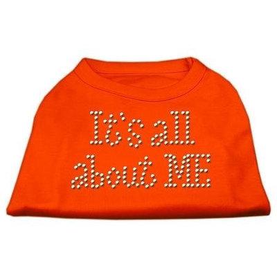 Ahi It's All About Me Rhinestone Shirts Orange Sm (10)