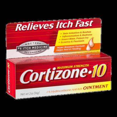 Cortizone-10 1% Hydrocortisone Anti-Itch Ointment Maximum Strength