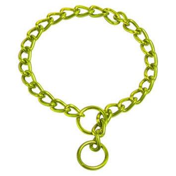 Platinum Pets Coated Chain Training Collar - Corona Lime (20