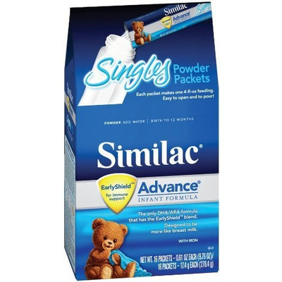 Similac Advance Early Sheild, Powder Sticks, 16-count Packets (Pack of 6)