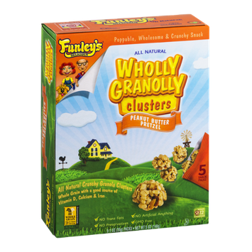 Funley's Delicious Wholly Granolly Clusters Snack Packs Peanut Butter Pretzel - 5 PK