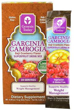 Genesis Today Garcinia Cambogia Superfruit Drink Mix Goji Cranberry 20 Stick Packs
