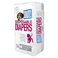 OUT! International Simply OUT! Pet Diapers 14-pk. - M