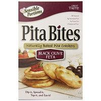 Sensible Portions Pita Crackers, Black Olive & Feta, 5 Ounce Box (Pack of 12)