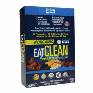 Trace Minerals Research Organic EatClean Vegan Whole Food Bar - 12 Bars