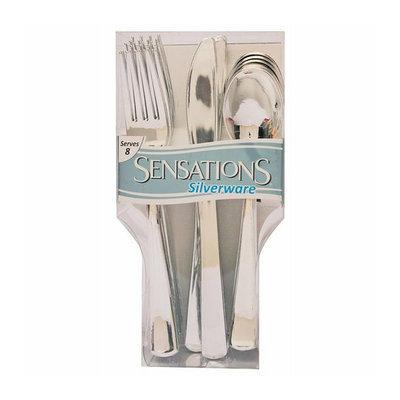 Creative Converting 41354 Metallic Look Plastic Cutlery Assorted 24 Count