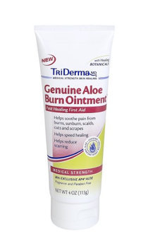 Triderma Md TriDerma Genuine Aloe Burn Ointment Helps Speed Healing and Soothe Pain from Minor Burns (4 oz)