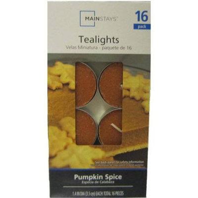 Mainstays Tea-Light Candles, 16 Pack, Pumpkin Spice