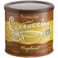 Victorian Inn Instant Cappuccino, Hazelnut, 16-Ounce Canisters (Pack of 6)