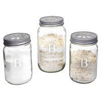 Cathy's Concepts Personalized Mason Jar Sand Ceremony Set with Letter B