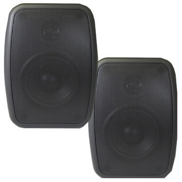 Theater Solutions TS525ODB Indoor or Outdoor Weatherproof HD Mountable Black Speaker Pair