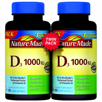 Nature Made Vitamin D3 1000 IU Supplement Liquid Softgels