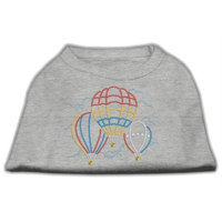 Mirage Pet Products 5239 SMGY Hot Air Balloon Rhinestone Shirts Grey S 10