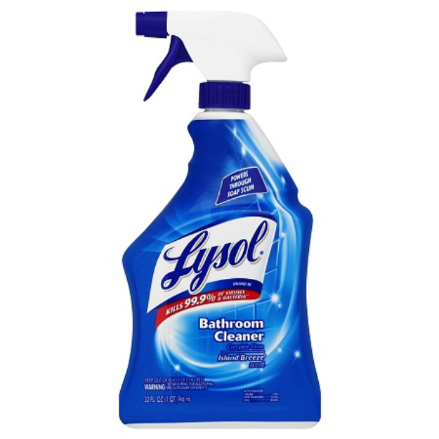 Lysol Complete Clean Bathroom Cleaner Spray Island Breeze