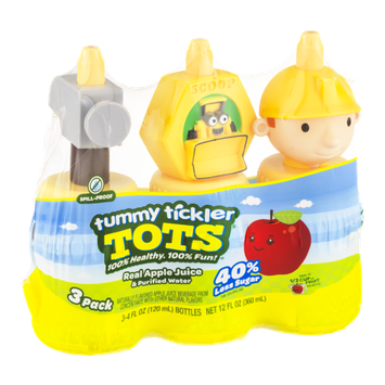 Tummy Tickler Tots Real Apple Juice & Purified Water - 3 PK
