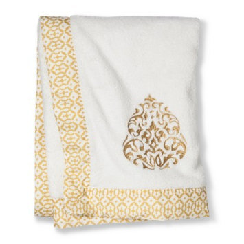 Mudhut Baby Blanket GLD WHT