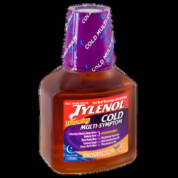 Tylenol® Cold Multi Symptom Warming Honey Lemon Nighttime Pain Reliever Liquid