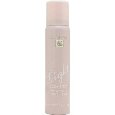 Vanderbilt by Gloria Vanderbilt Light Body Spray for Women, 2.5 Ounce
