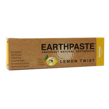 Redmond Earthpaste Kid's Amazingly Natural Toothpaste, Lemon Twist, 4 oz