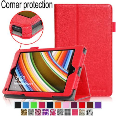 Fintie Lenovo Thinkpad 8 Folio Leather Case with Stylus Holder (Only Fit Lenovo Thinkpad 8.3-Inch Windows 8.1), Red