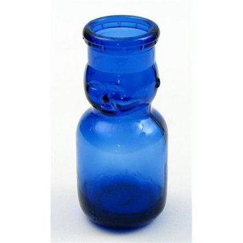 IWGAC 01-16315 Small Baby Top Blue Glass Bottle