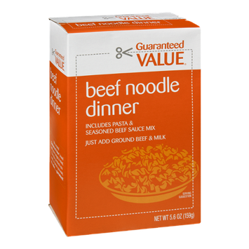 Guaranteed Value Beef Noodle Dinner