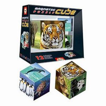 John N. Hansen Magnetic Puzzle Cube Wildlife Ages 8+