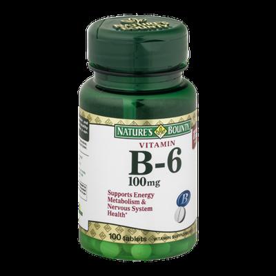 Nature's Bounty Vitamin B-6 100 mg Tablets - 100 CT