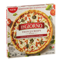 DiGiorno Thin & Crispy Pizza Tomato Mozzarella with Pesto