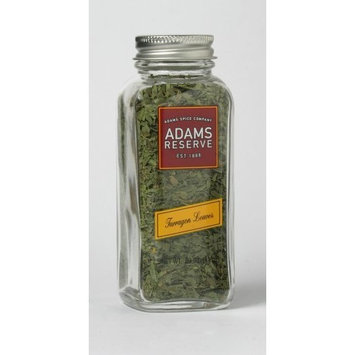 Adams Extracts Tarragon Leaves, Whole, 0.39-Ounce Glass Jar (Pack of 6)