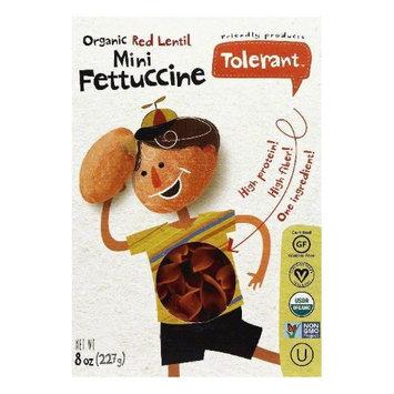 Tolerant 8 oz. Organic Non-Gmo - Pasta Red Lentil Mini Fettuccine Case Of 6