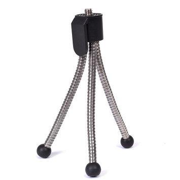 5 Compact Mini Portable Tripod For Digital Cameras & Camcorders - Silver/Black