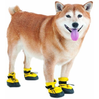 Ethical Pet Fashion Pet Lookin Good Arctic Winter-Proof Boots for Dogs, Medium, Yellow