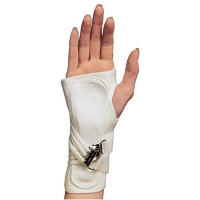 OTC ProChoice Cock-Up Wrist Splint, White, Left, Small