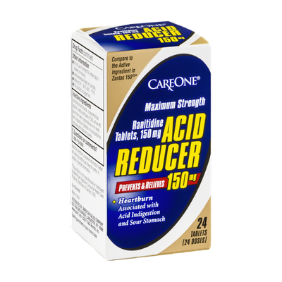 CareOne Acid Reducer 150mg Maximum Strength Tablets - 24 CT