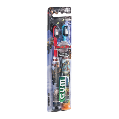 GUM Dragons Soft Toothbrushes - 2 CT
