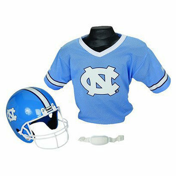 Franklin Sports North Carolina Helmet/Jersey set- OSFM ages 5-9