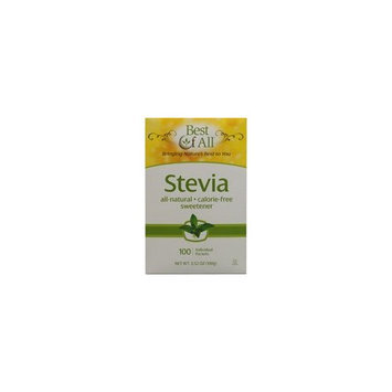 Best Of All Stevia Sweetener All-Natural & Calorie Free -- 100 Packets