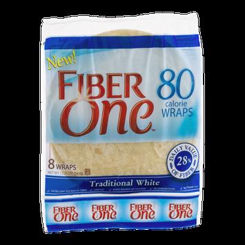Fiber One Wraps Honey Traditional White