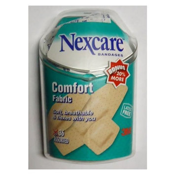 3M Nexcare Comfort Fabric Bandages (3 Assorted Sizes), 36 ct