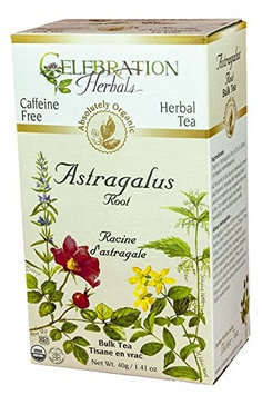 Celebration Herbals Organic Bulk Tea Caffeine Free Astragalus Root 40 g