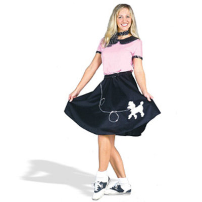 California Costume Collections CC00710-M 50s Hop W Poodle Skirt Adult Costume Size Medium