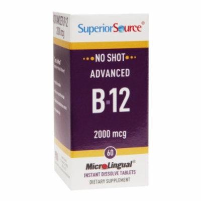Superior Source - No Shot Advanced B12 Instant Dissolve 2000 mcg. - 60 Tablets