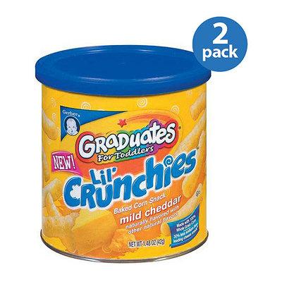 Gerber Graduates Lil' Crunchies Mild Cheddar Baked Corn Snack 1.48 oz (Pack of 2)