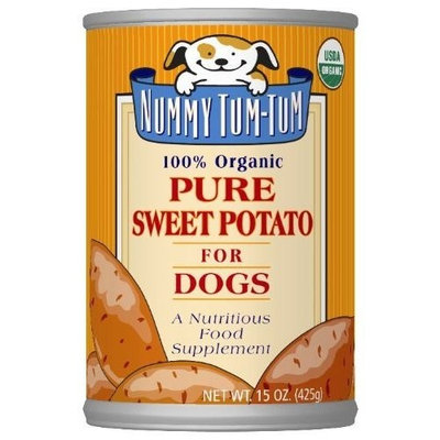 Nummy Tum Tum Pure Sweet Potato, 15-Ounce Cans (Pack of 12) ( Value Bulk Multi-pack)