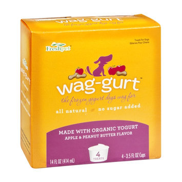 Freshpet Wag-Gurt Apple & Peanut Butter Flavor Frozen Yogurt Treats for Dogs - 4 CT